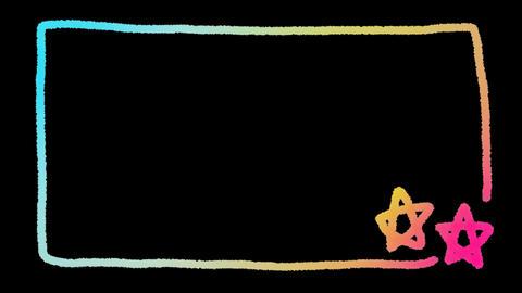 動く外枠 星カラー CG動画素材