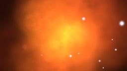 Orange gaseous cloud effect Animation