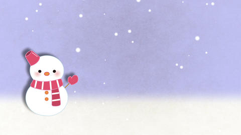 冬背景 CG動画素材