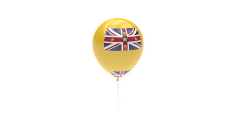 Niue Balloon Rotating Flag Animation - Alpha Channel - Transparent Animation