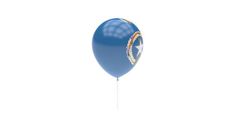 Northern Mariana Islands Balloon Rotating Flag Animation - Alpha Channel - Trans Animation