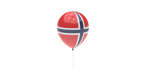 Norway Balloon Rotating Flag Animation - Alpha Channel - Transparent Animation