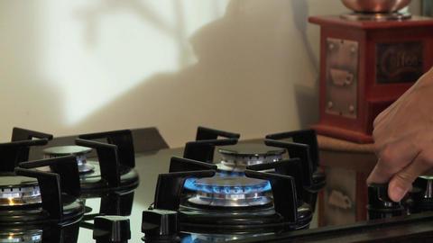 Gas stove turn on flame blue ライブ動画
