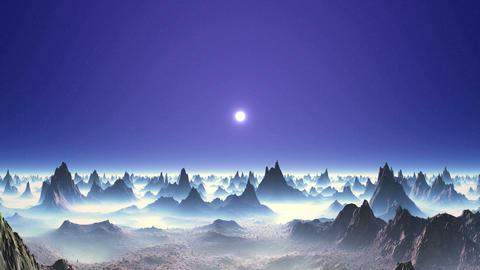 Beautiful Sunset on an Alien Planet Stock Video Footage