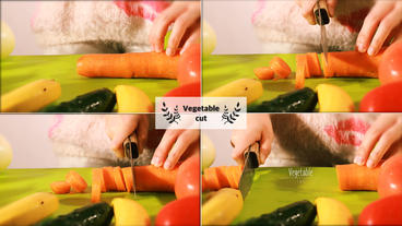 Vegetable cut Ver1 After Effects Template