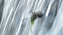Pipe expelling water in a natural water spring Footage