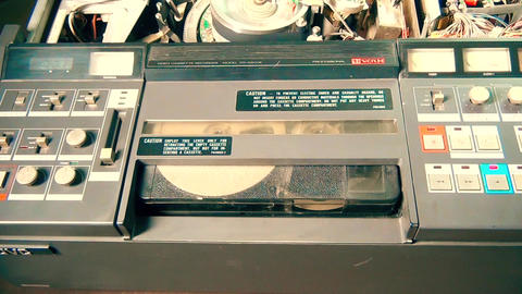 Professional VHS television tape recorder Footage