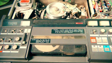 Professional television VHS tape recorder Footage