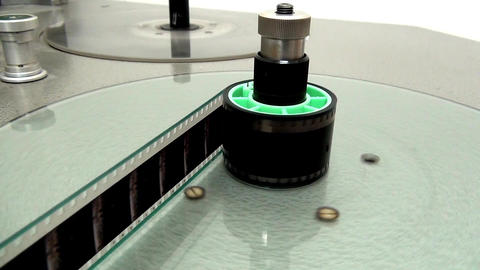 Starting Rewinding Reel Of Film Footage