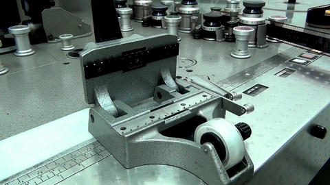 Retro Machine cutter for movie film without a film movie Archivo