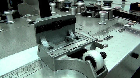 Retro Machine cutter for movie film without a film movie, Live Action