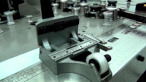 Retro Machine cutter for movie film without a film movie Stock Video Footage