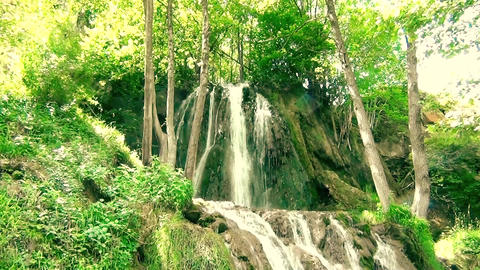 Beautiful Waterfall In Tropical Paradise Footage