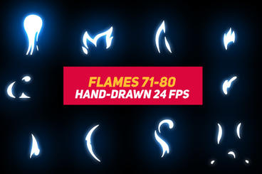 Liquid Elements 2 Flames 71-80 After Effects Template