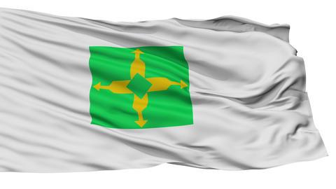 Isolated Distrito Federal city flag, Brasil Animation