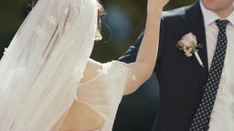 Wedding couple dances their first dance Footage