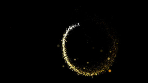 Sparkles And Salutes With Glowing Particles 0