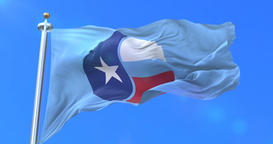 Flag of Collin, county of the state of Texas, in United States - loop Animation
