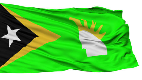 Isolated Lautem city flag, East Timor Animation