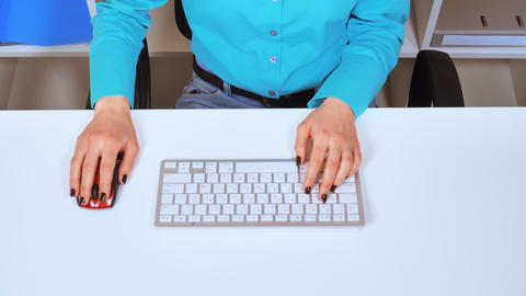 business details person use computer Footage