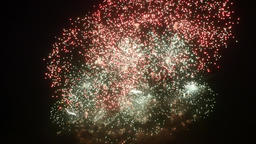 Firework display at night for New Year Christmas and other holidays Footage