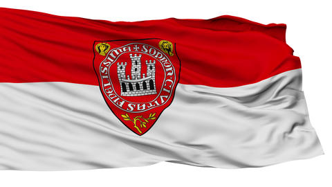 Isolated HUN Sopron city flag, Hungary Animation