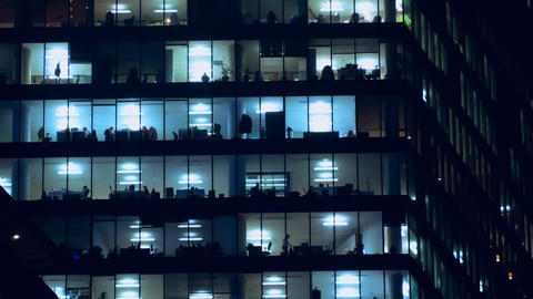 Night life of office staff GIF