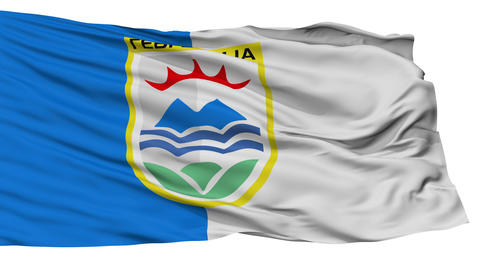 Isolated Gevgelija city flag, Macedonia Animation