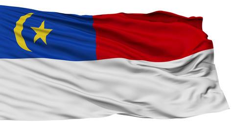 Isolated Malacca city flag, Malaysia Animation