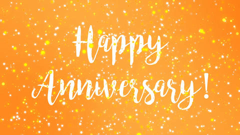Sparkly yellow Happy Anniversary greeting card video GIF