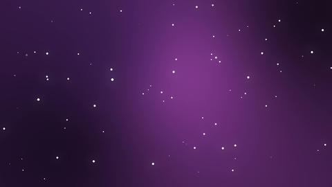 Purple night sky with animated stars GIF