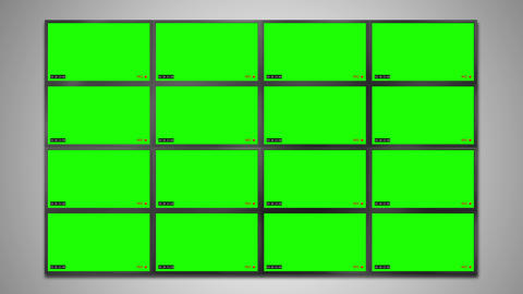CCTV Cam Noise And Timecode Chroma Key