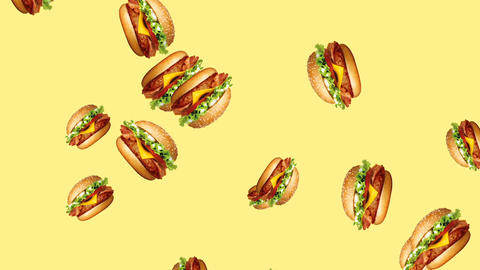 Abstract colorful burger animation Animation