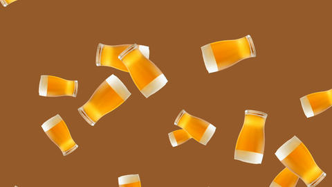 Abstract colorful glass of beer animation Stock Video Footage