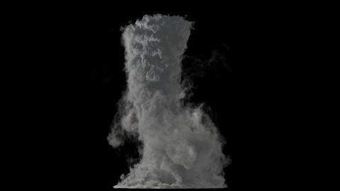 A birth of tornado isolated on black background with alpha matte Animation