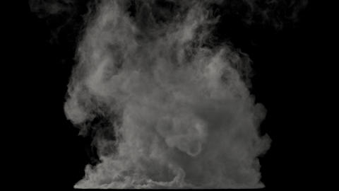 A birth of tornado isolated on black background with alpha matte GIF