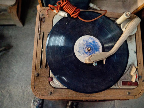 Retro portable turntable Photo