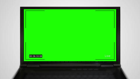 Laptop monitor display of video recording GIF