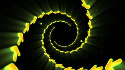 Illuminated tunnel of Arrows, Spin lines, Loop CG動画