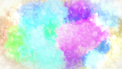 Watercolor colorful splatter, Abstract ink background, Loop CG Animation CG動画素材