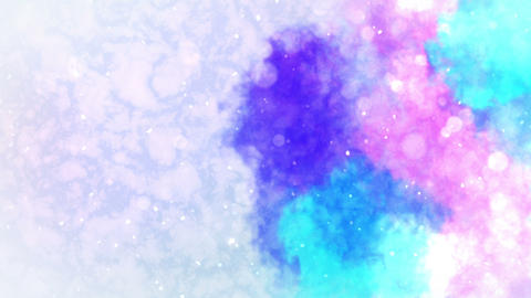 Watercolor colorful splatter, Abstract ink background, Loop CG Animation 애니메이션
