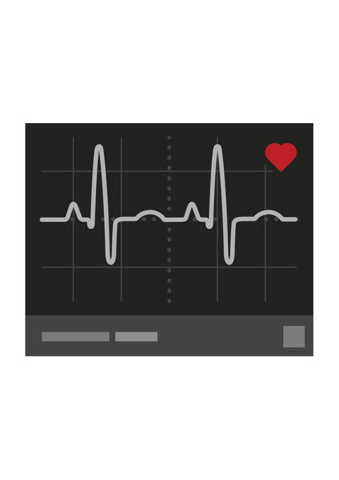 illustration of a cardiogram in flat style フォト