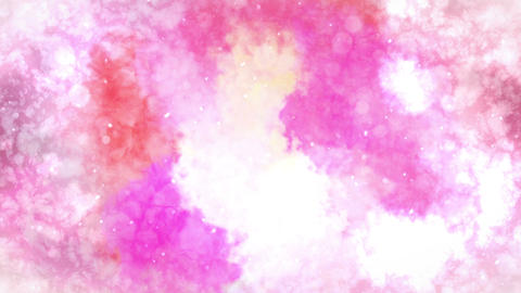 Watercolor colorful splatter, Abstract ink background, Loop CG Animation Animation