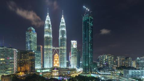 Time Lapse of the Kuala Lumpur Skyline GIF