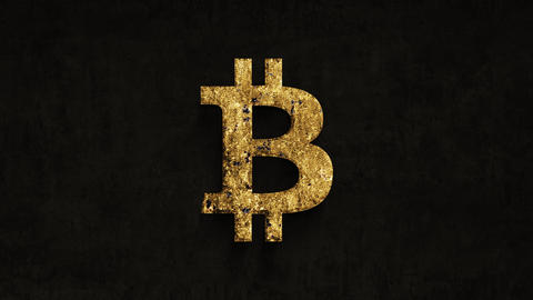 bitcoin sign rusting over time on a grunge background Footage