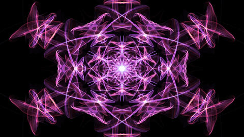 Live red, orange and purple fractal mandala, video color changing tunnel on Animation