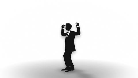 Male silhouette happiness, Businessman, Loop Stock Video Footage