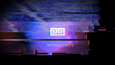 Modern Glitch Logo After Effects Template