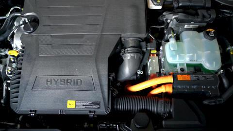 Car hybrid engine detail Footage