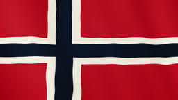 Norway flag waving animation. Full Screen. Symbol of the country Footage